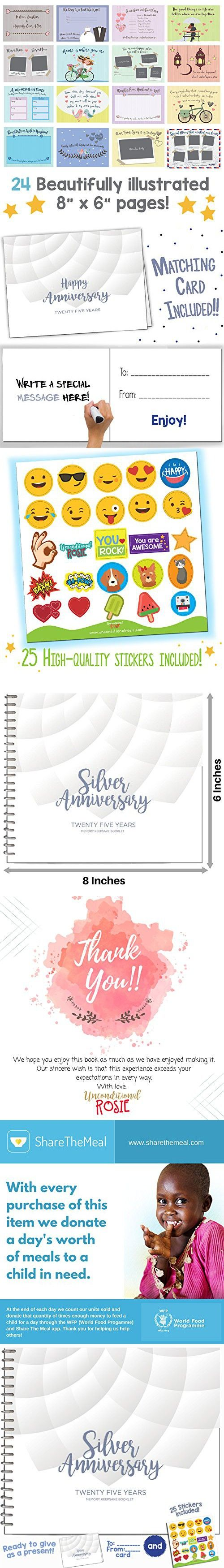 25TH ANNIVERSARY GIFTS FOR COUPLES BY YEAR - Twentyfive Year Booklet ...