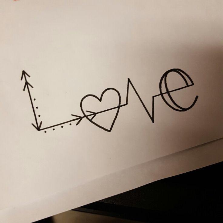 Liebe Zeichnung, die ich heute für einen Kunden gemacht habe, einfach aber cool #an #insert ... - Welcome to Blog