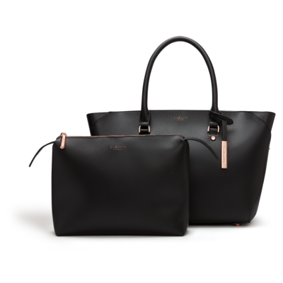 Black Sophie Vegan Leather Tote Bag Faux Leather Sophie Tote Bag In 2020 Vegan Leather Tote Bag Vegan Leather Tote Leather Tote Bag