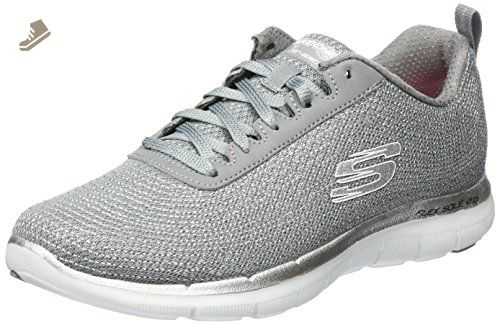 calor Mansión Rango  Skechers Women's Flex Appeal 2.0 Metal Madness Training Shoe,Gray/Silver,US  11 M - Skechers sneakers for… | Trainers women, Skechers women, Best trail  running shoes