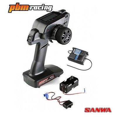 Sanwa mx-v rc car fhss-2 #24ghz transmitter with one rx-37w
