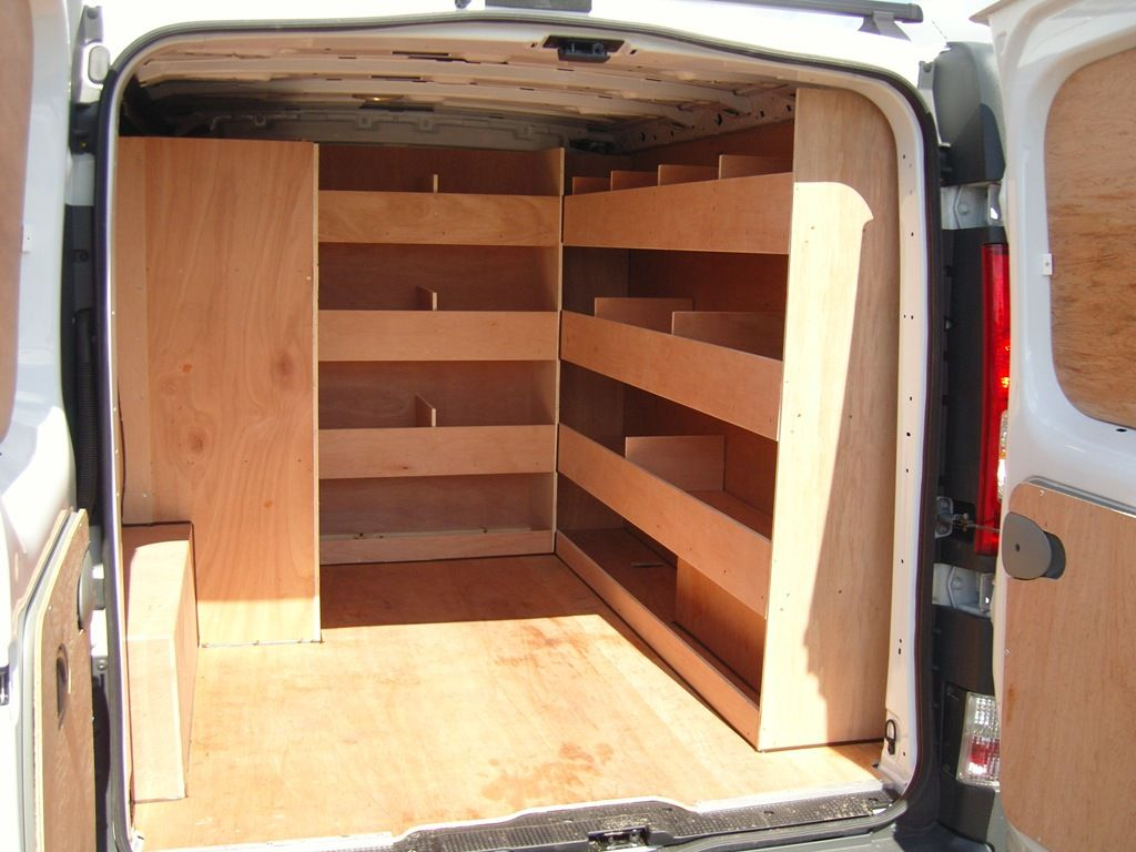 Sprinter Van For Sale Craigslist >> Renault Trafic SWB - Offside and bulkhead shelving with side load door compartment | Kombi ...