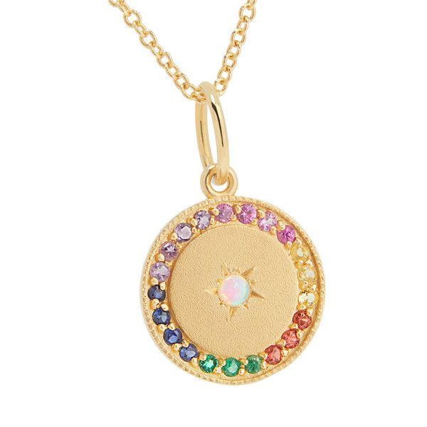 Andrea Fohrman Full Moon 18-karat Gold Multi-stone Necklace uJtws