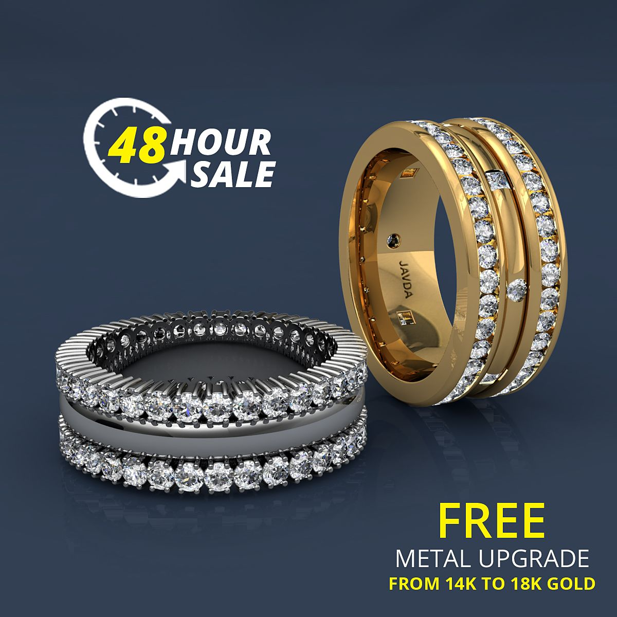 Hurry....! Exclusive 48 HOUR SALE Shop diamond wedding
