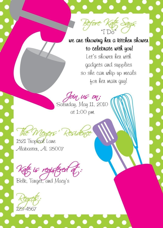 Kitchen Shower Invitation PLUS Recipe Card by lilypadboutiquestore ...