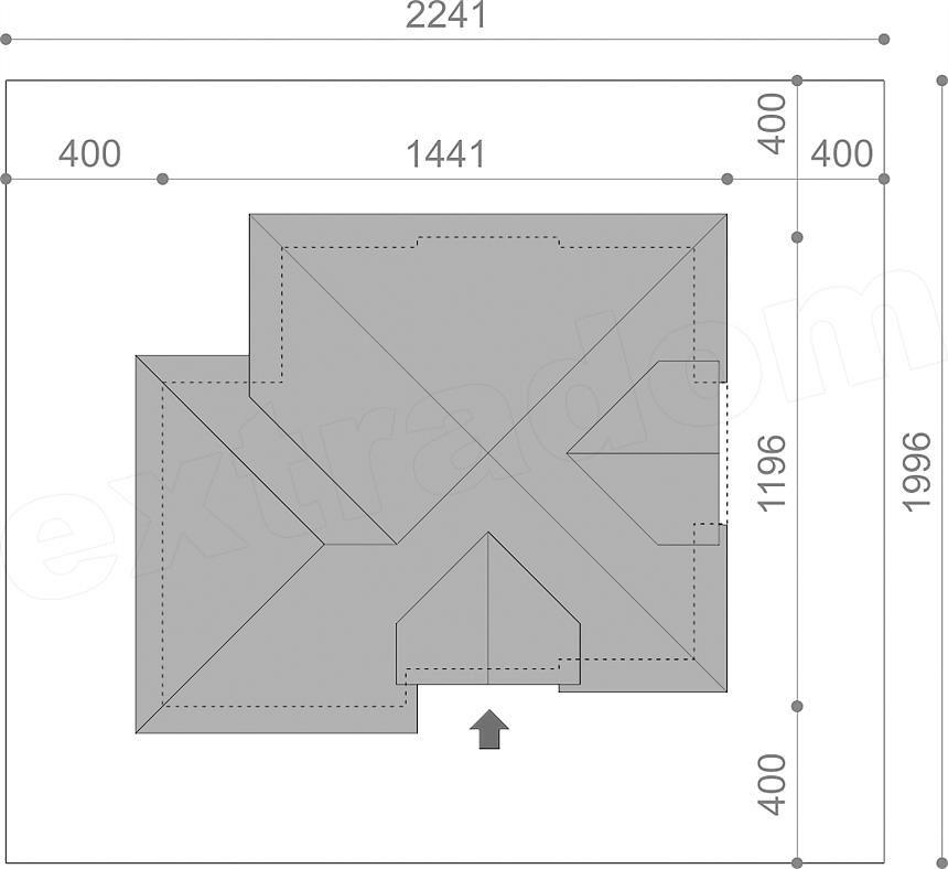 Rzut projektu Opałek III N 2G дом Pinterest - plan de maison moderne 3d