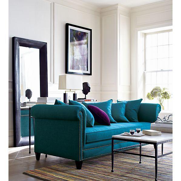 New Furniture Crate And Barrel Living Room Sofa Turquoise Sofa Teal Sofa