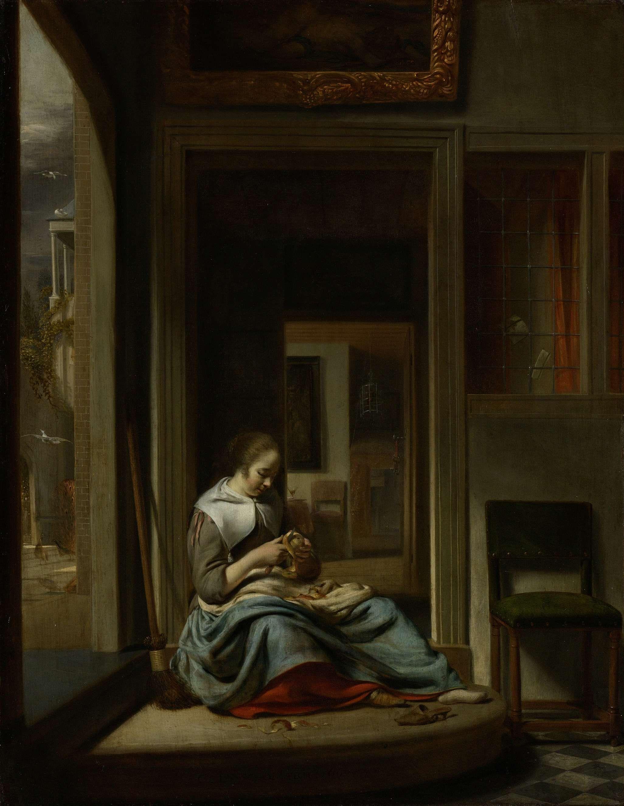 De appelschilster, Cornelis Bisschop, 1667