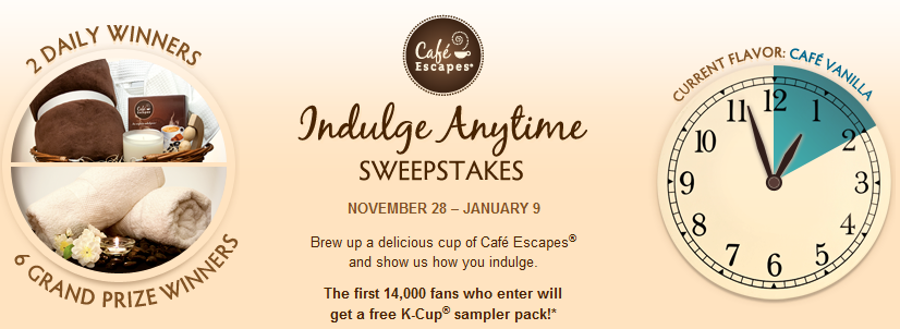 FACEBOOK FREEBIE $$ FREE Cafe Escapes K-Cups Sample Pack! | FREE ...