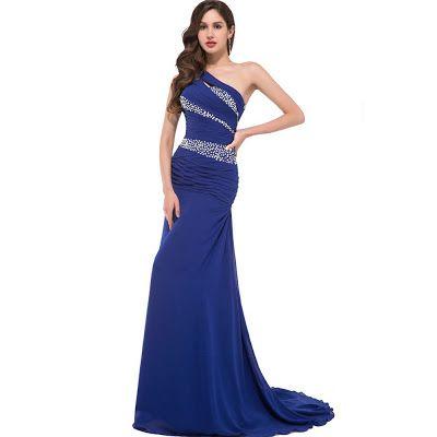 Vestidos De Noche Azul Rey Vestidos De Noche De Diseñador