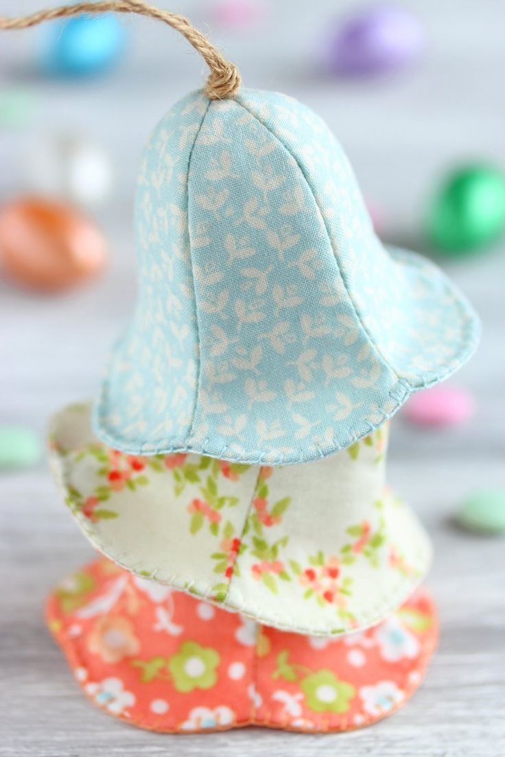 PDF Easter Bell Sewing Pattern & Tutorial, Fabric Easter Ornament Pattern, DIY Easter Tree Decoratio – ostern
