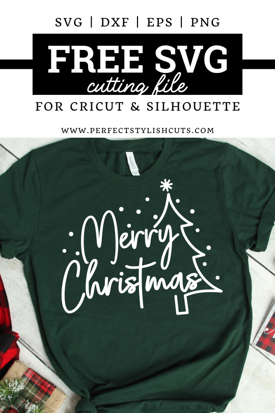 Free Merry Christmas SVG File - PerfectStylishCuts | Free SVG Cut Files for Cricut and Silhouette cutting machines