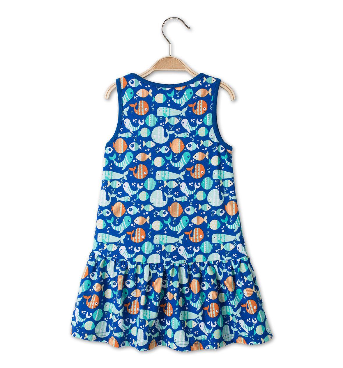 mädchen 2er pack ärmellose kleider in blau - mode günstig