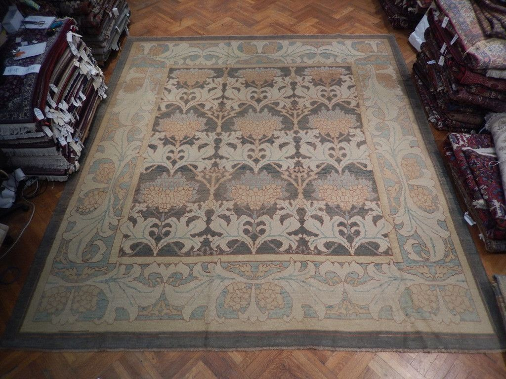 William Morris 13x15 Authentic Old Turkish Oushak Rug