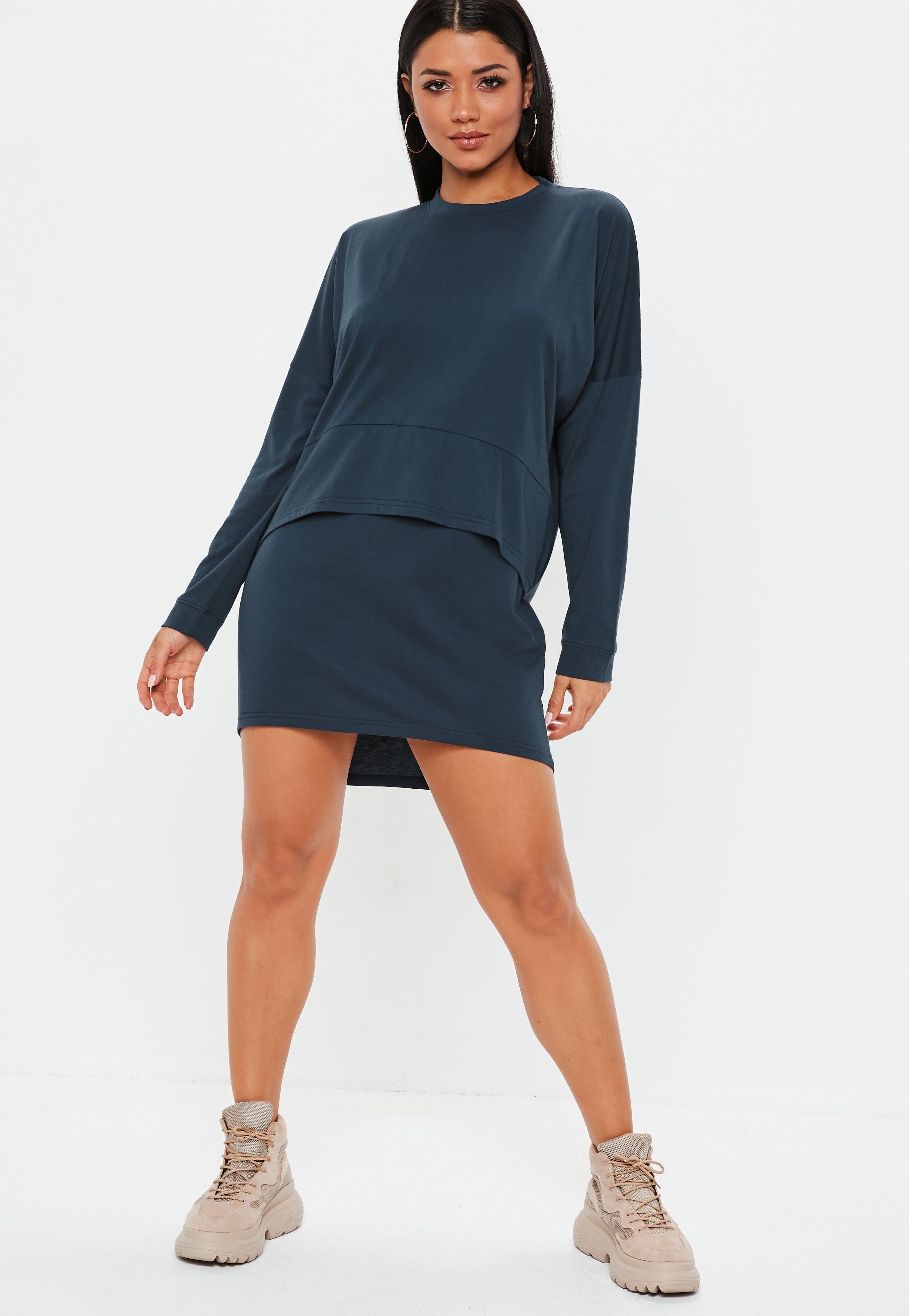 3980482f7240b Navy Oversized Jersey Overlay T Shirt Dress #Sponsored #Jersey, #ad, #