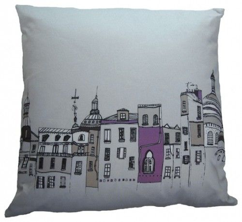 Streets of Paris Grey Cushion