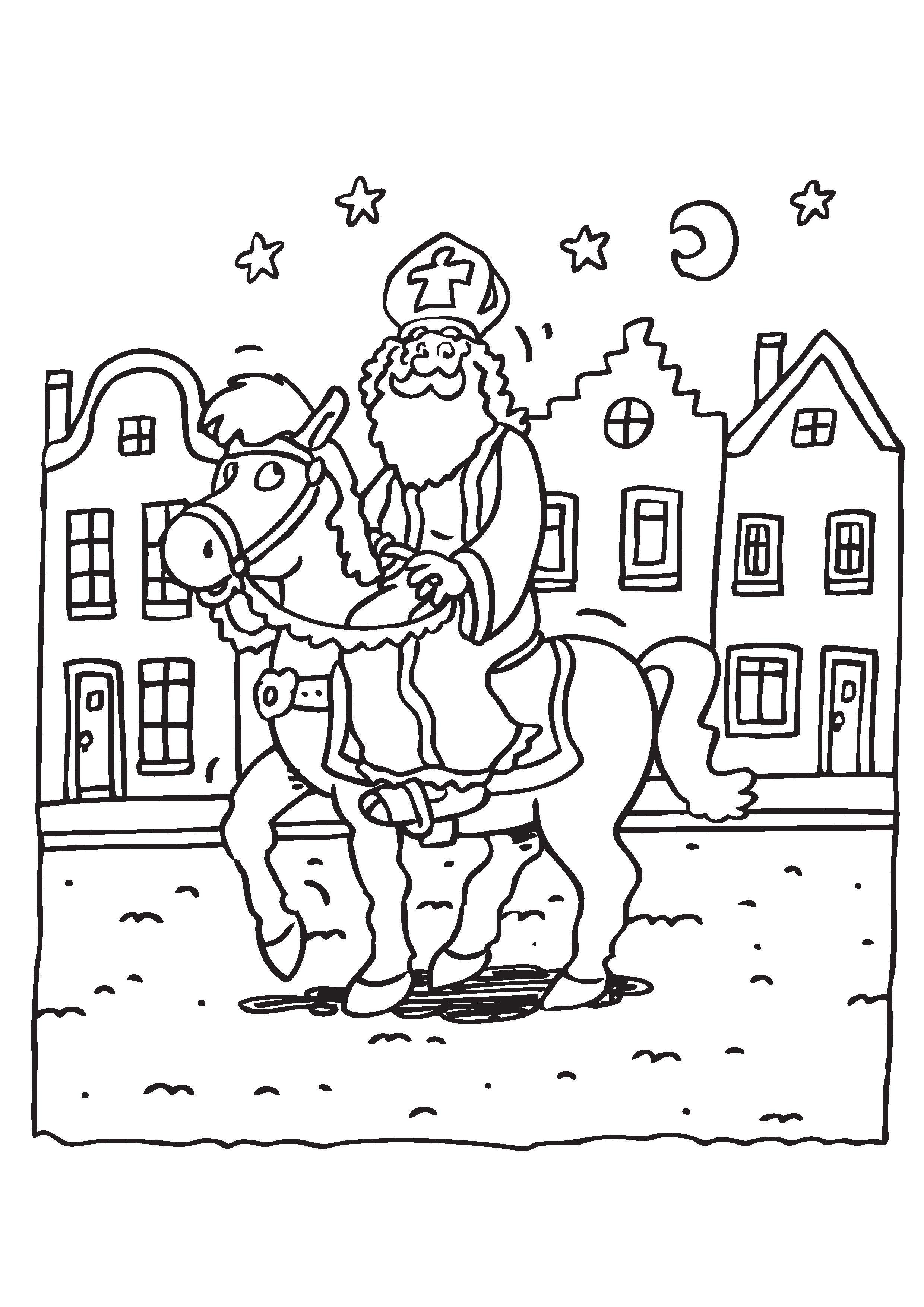 Sinterklaas Kleurplaten Tekenen