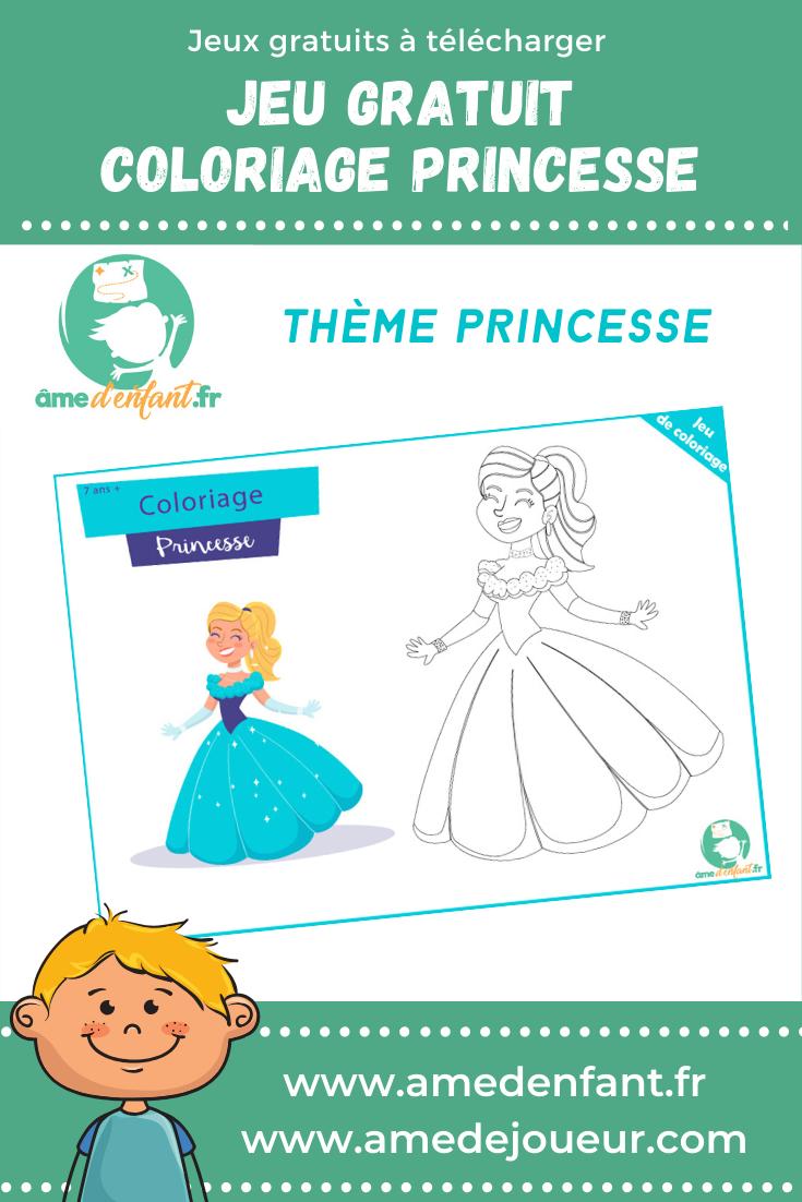 Coloriage de Princesse Gratuit en 2020 | Jeux gratuit ...