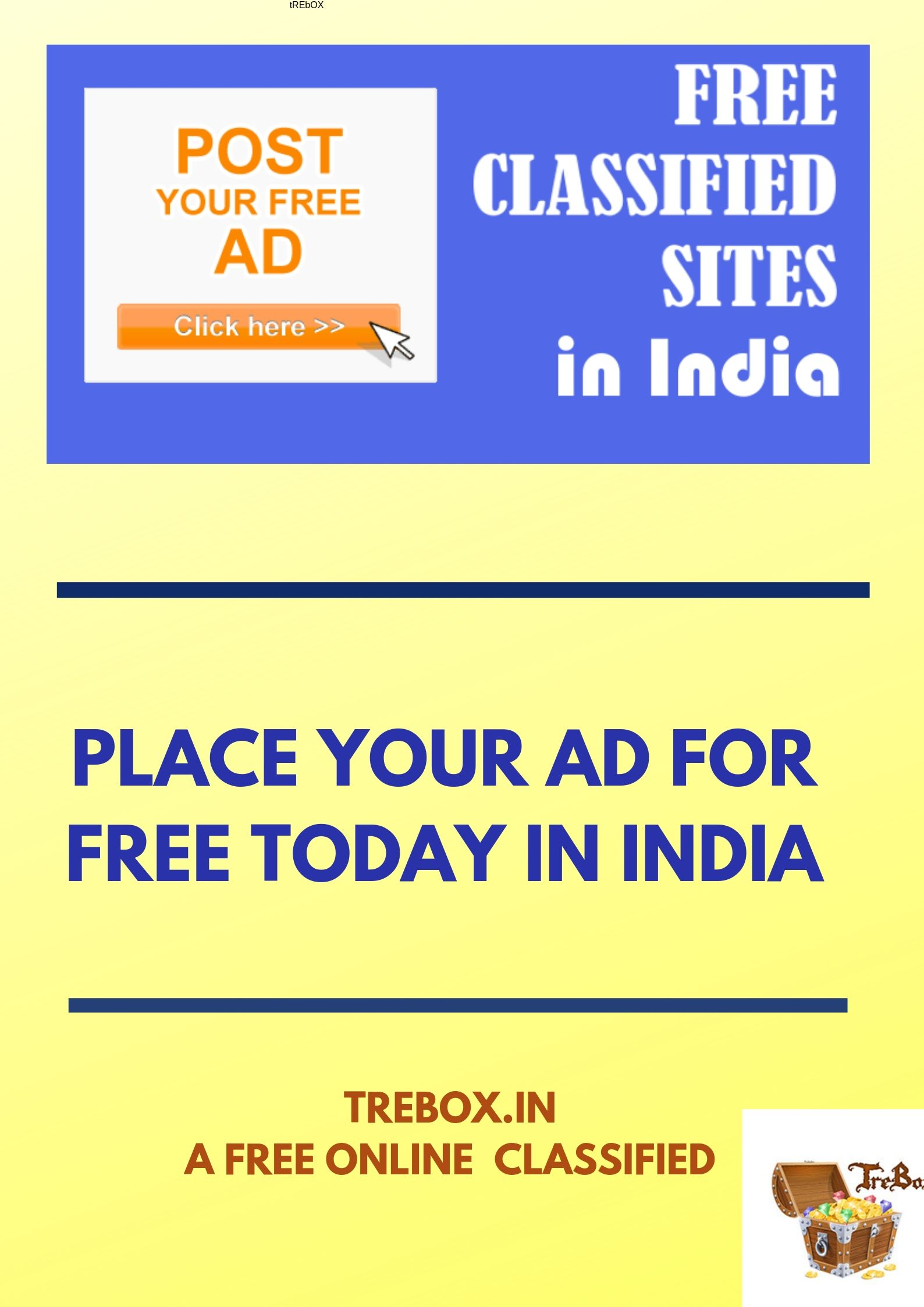 Post your sell item ads online in India by TreBox