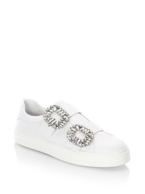 Roger Vivier Jeweled Leather Sneakers 0rhaLNm7
