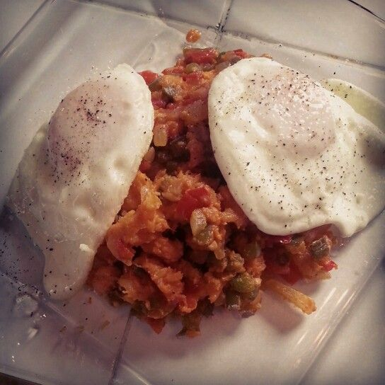 My Puerto Rican version of sweet potato hash. Actually it's very healthy and delicious.