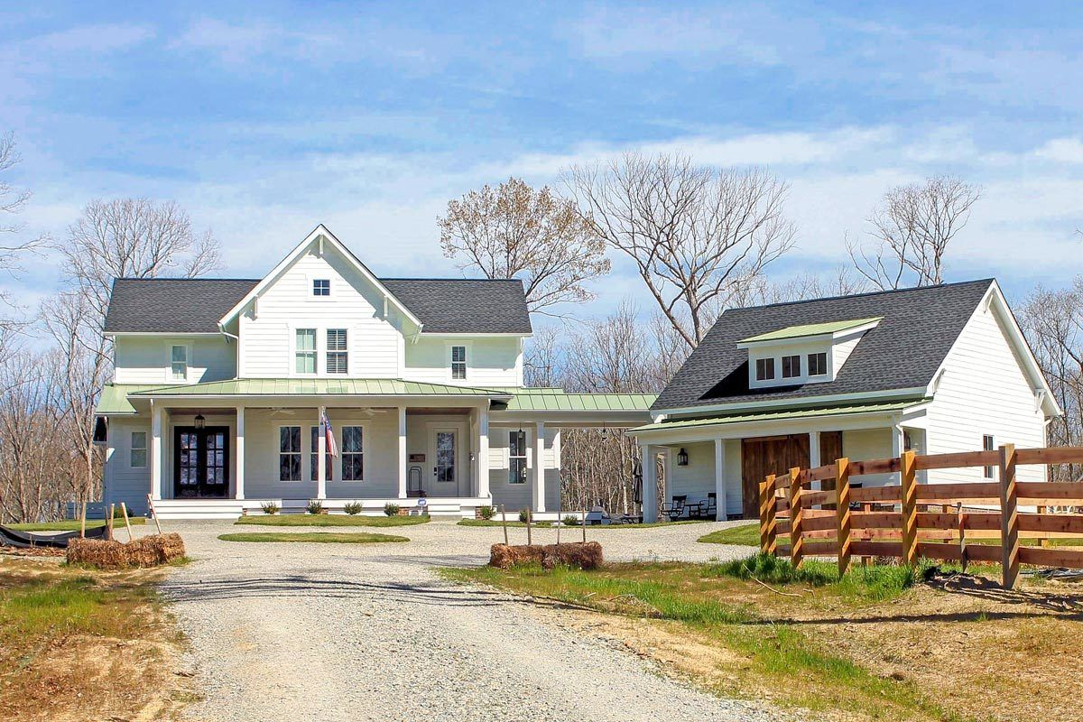 Plan 500018VV: Quintessential American Farmhouse with Detached ...