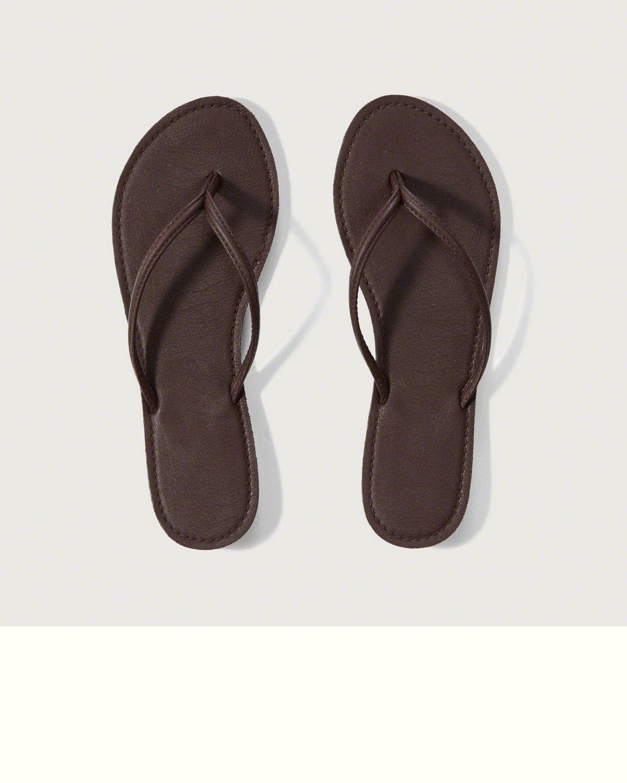 51c5d780f067d Womens Leather Flip Flops