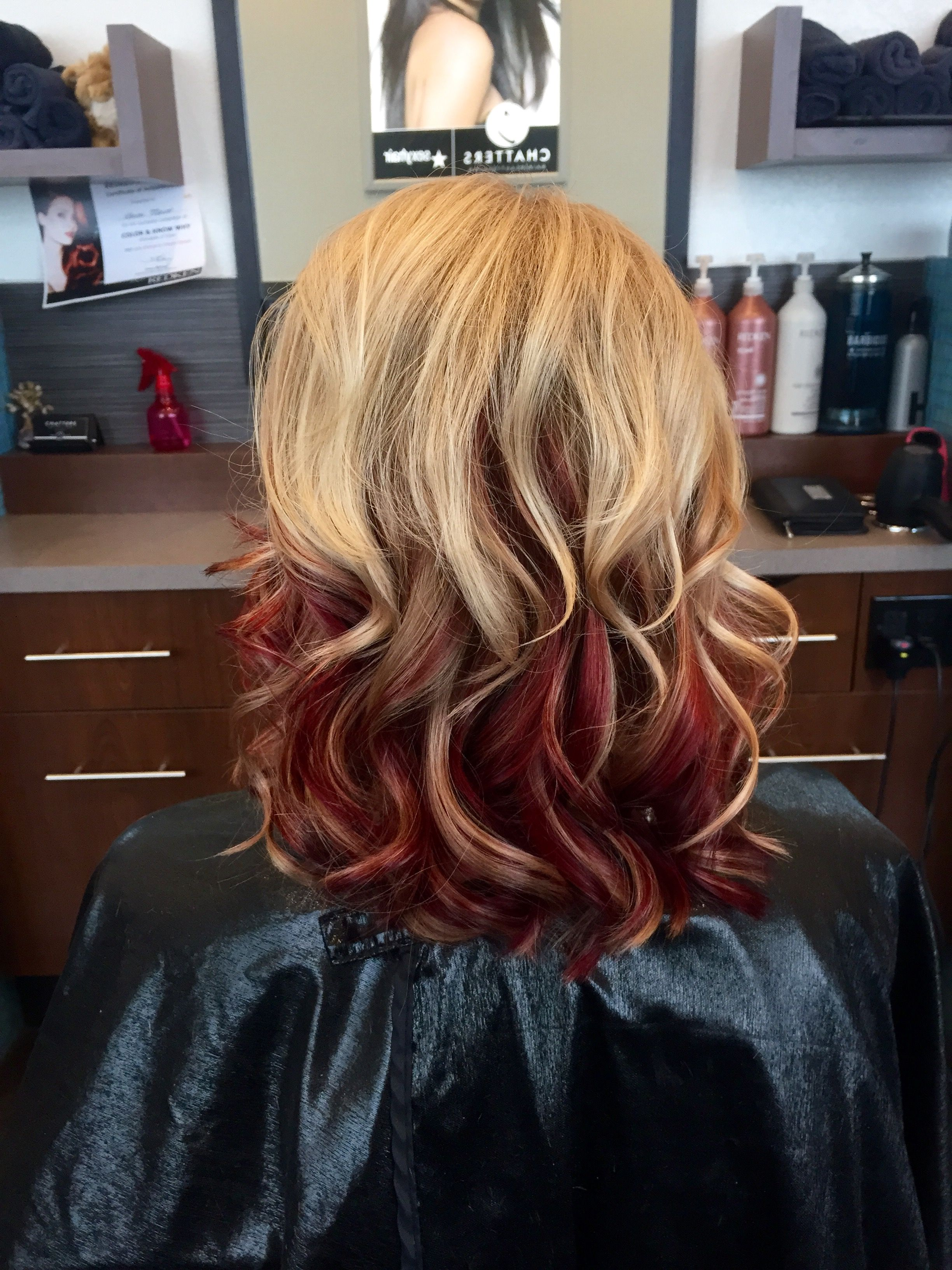 Natural Blonde To Red Ombre Curls Ombre Hair Blonde Red Ombre Hair Hollywood Hair