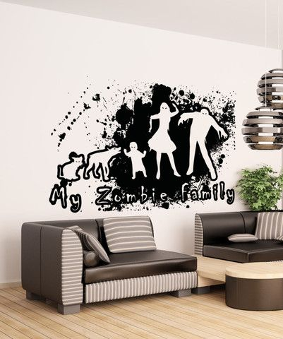 Vinyl Wall Decal Sticker Zombie Grunge Family #5029 | Wall decal ...