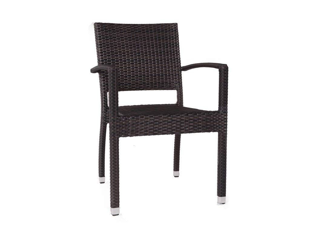 rattan garden dining chairs uk hammock chair stand indoor ascot stacking armchair outdoor amazon co