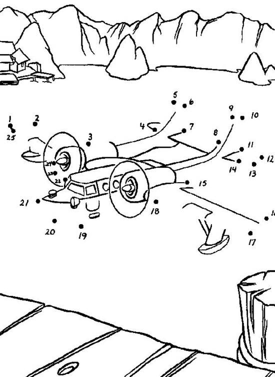 Undersea Dot to Dot coloring pages for kids, connect the