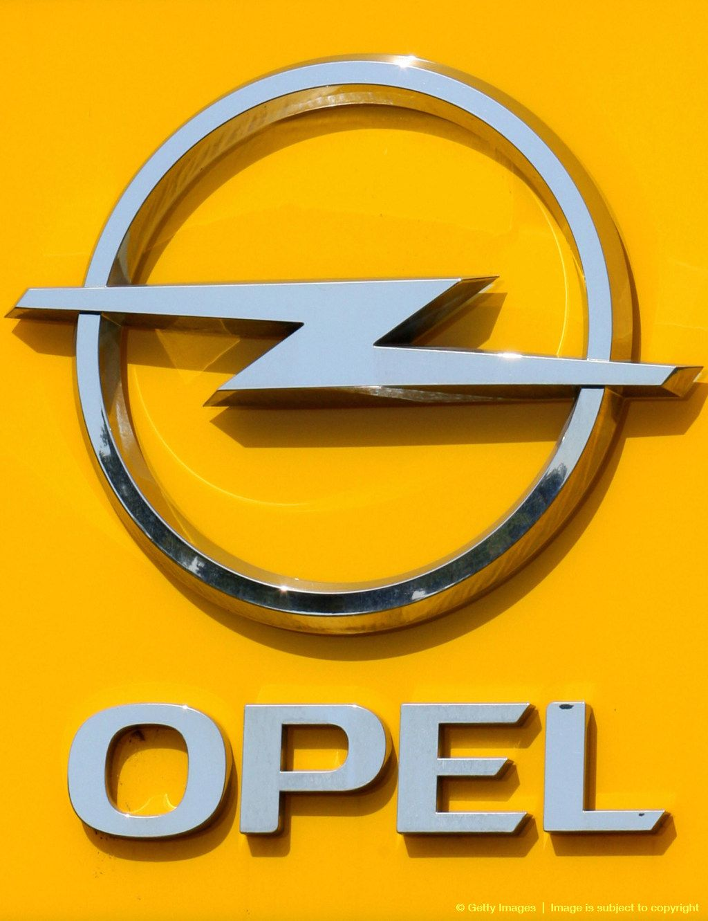 A logo of German car maker Opel is pictu Autos