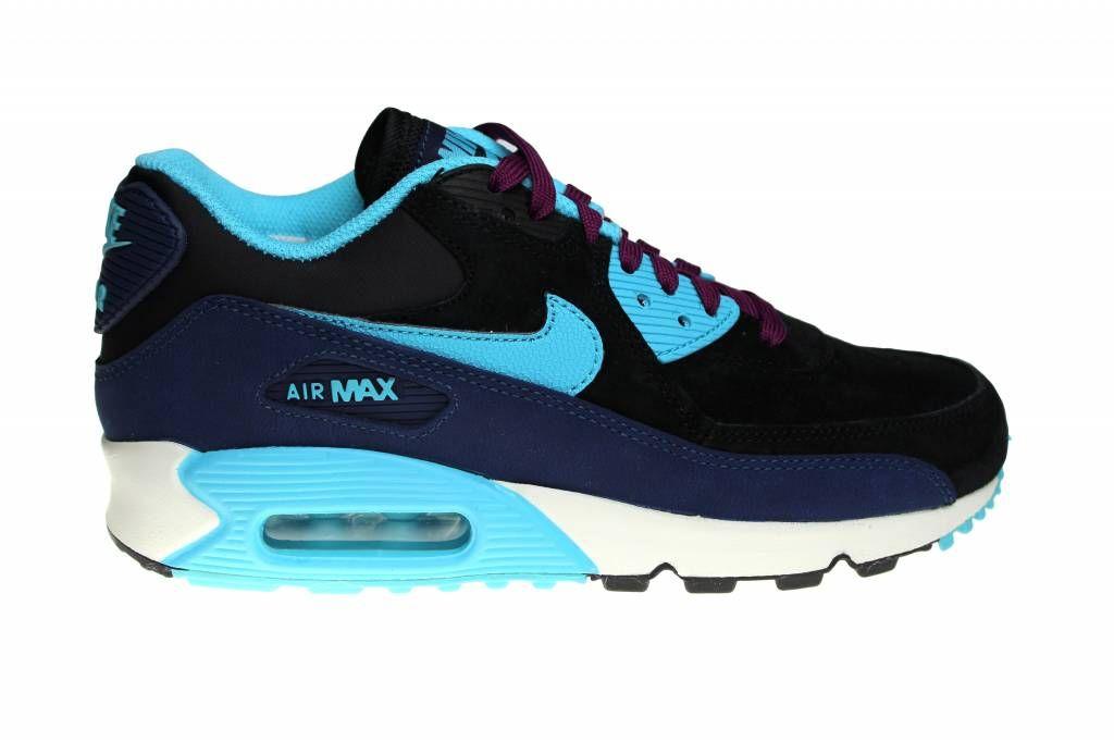 nike air max dames blauw suede