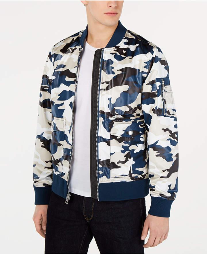 635d48ce88ccc GUESS Men Camo Bomber Jacket Camo Bomber Jacket, Camo Print, Collars, Shirt  Dress