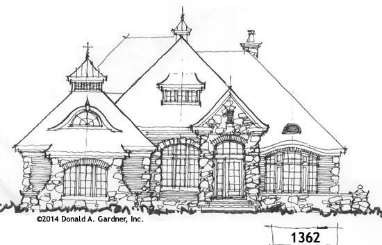 Whimsical House Plan On The Drawing Board 1362 House Plans Cottage Floor Plans Fairytale Cottage