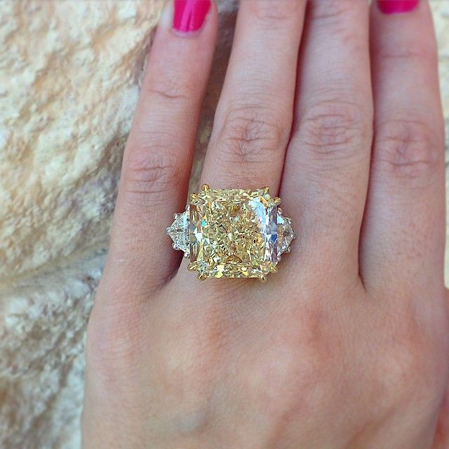 Top 10 Fancy Colored Diamonds Of 2015 Raymond Lee Jewelers Yellow Diamond Engagement Ring Canary Yellow Diamond Engagement Ring Fancy Yellow Diamond