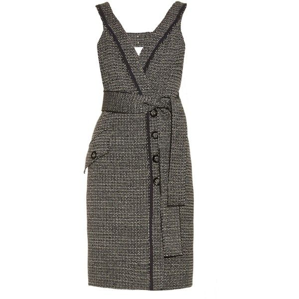 Proenza Schouler Bi-colour tweed dress ($460) ❤ liked on Polyvore featuring  dresses