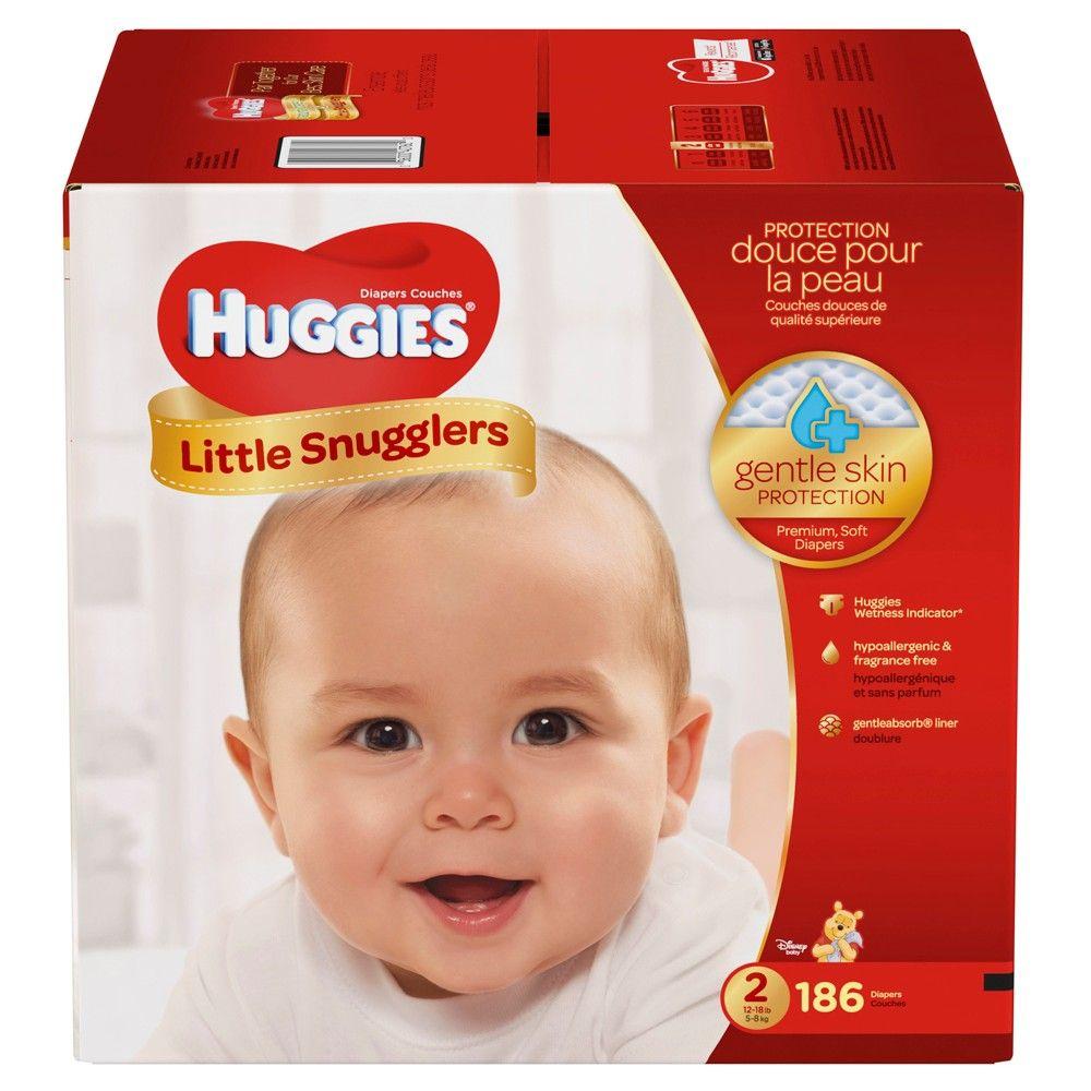 Multi NEW Huggies Little Snugglers Diapers 186 Count