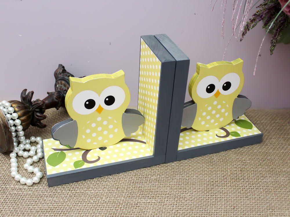Pink Owl Bookends Woodland Nursery