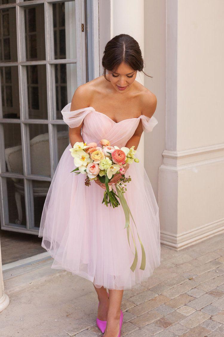Short Wedding Dress Blush Pink Tulle Gown 50s Wedding Dress Cocktail Reception Or Party Dress Beach Summer Wedding Tutu Skirt Dress Blush Pink Wedding Dress Wedding Dresses 50s Etsy Wedding Dress [ 1125 x 750 Pixel ]