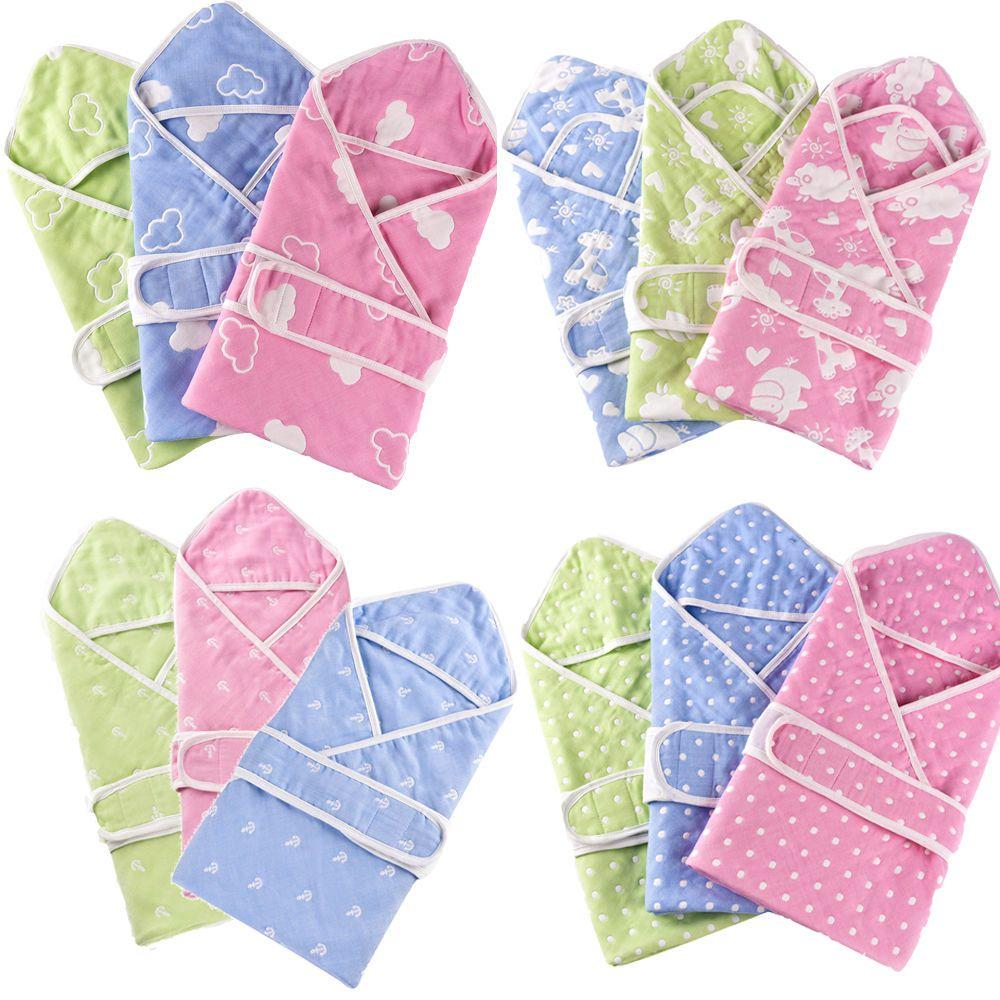 Summer Muslin Cotton Gauze Baby Splash Wrap Bath Hooded Towel Infant