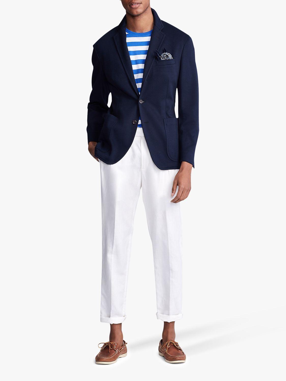 Polo Ralph Lauren Knit Mesh Cotton Blazer Navy In 2020 Polo Ralph Lauren Cotton Blazer Ralph Lauren