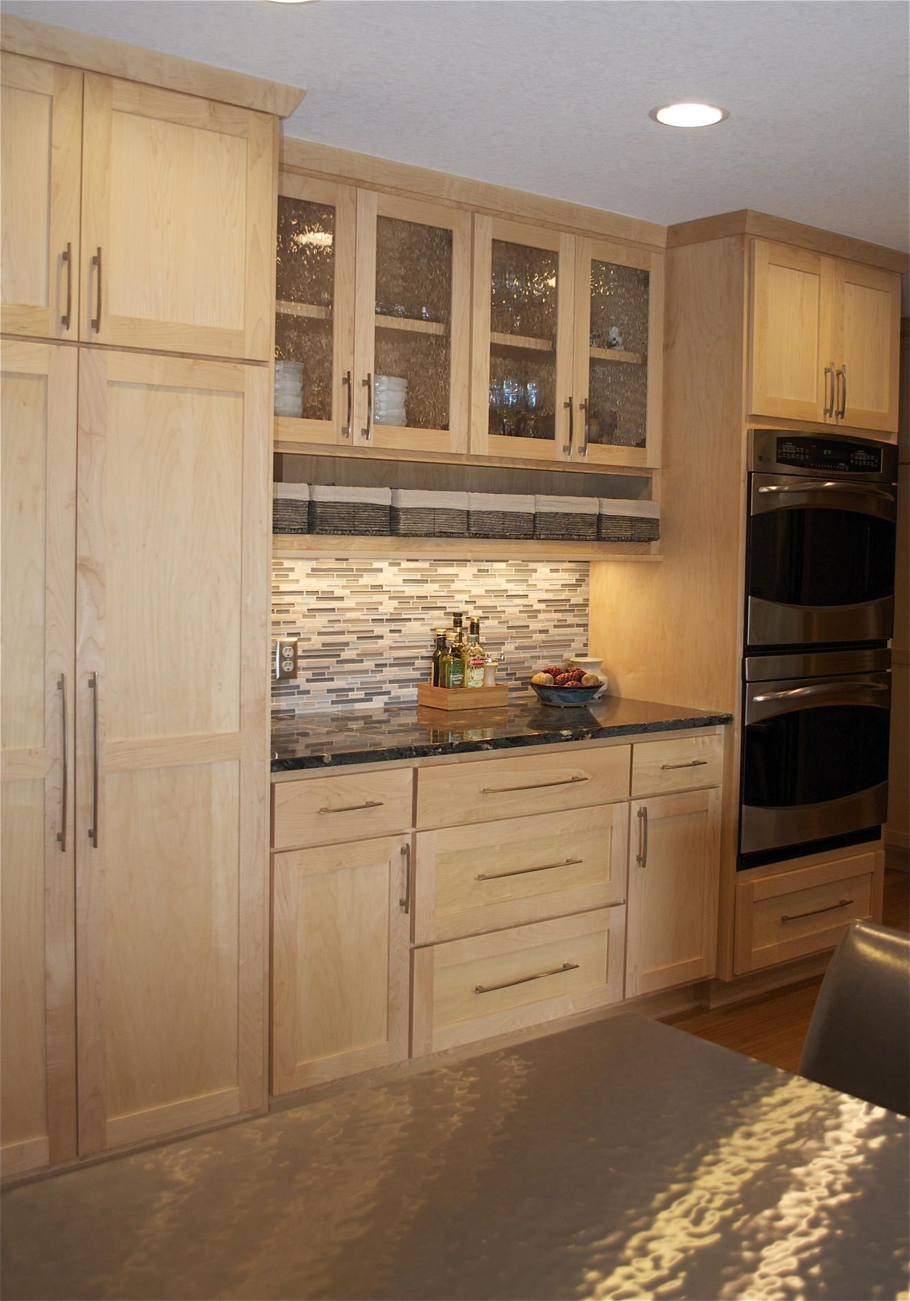 Kitchen Colors With Light Wood Cabinets Then Dining Table