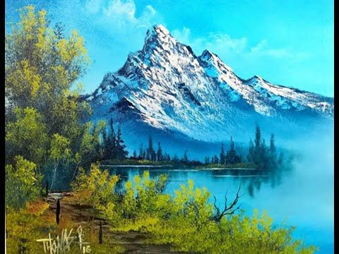 Free Painting Lesson Landscape Painting Painting With Magic Season 4 Ep 9 High On The Mo Mountain Paintings Landscape Paintings Landscape Paintings Acrylic