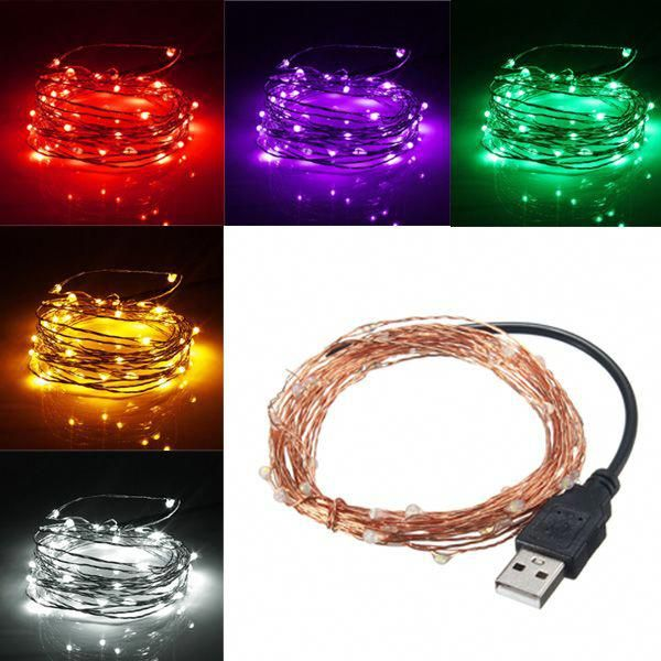 Wholesale Price + Free Shipping #Holiday Wire Lights 5M 50 LED USB