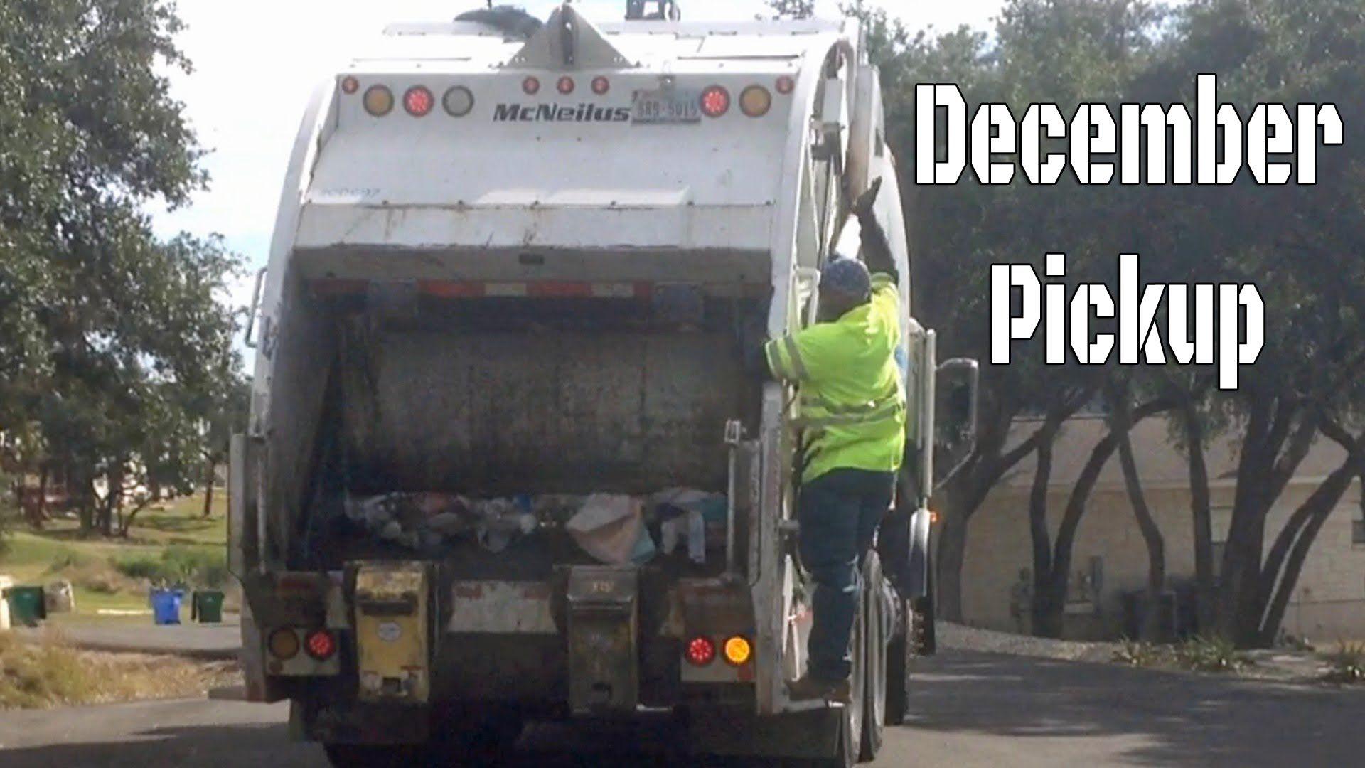 Garbage Truck Video December Trash Pick Up Rear Loader