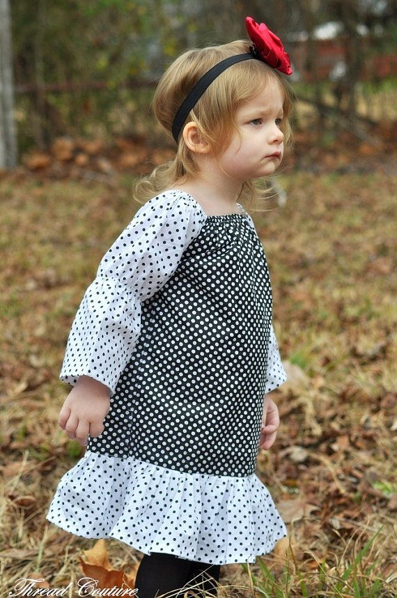 Peasant Dress Sewing Pattern Long and Short by ThreadCouture