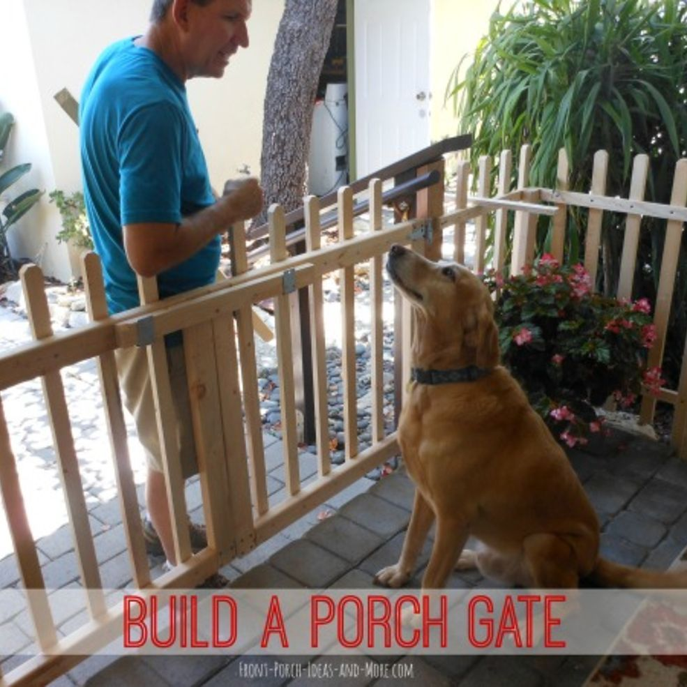 DIY Porch Fence