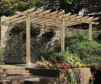 Superb An Attached Lean To Pergola Kit By Grange Fencing. Use As A Carport Or