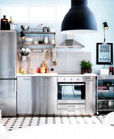wandfarben in der k che edelstahl schr nke mit hellblau in 2019 wohnen mit blaut nen ikea. Black Bedroom Furniture Sets. Home Design Ideas